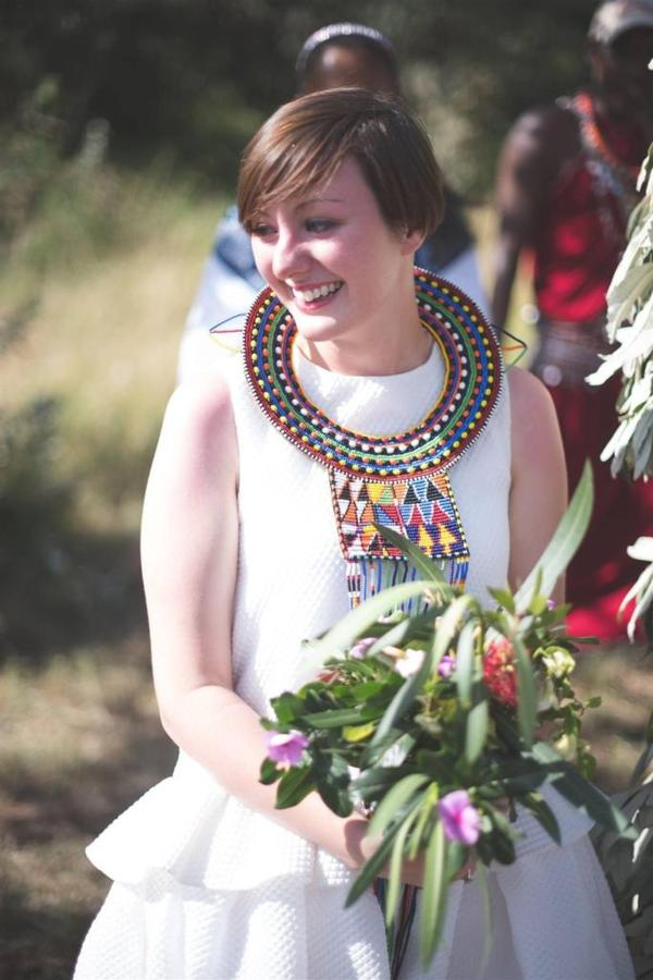 Bride in Maasai bridal necklace.jpg