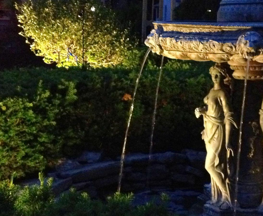 Union Gables Inn Saratoga Springs NY summer fountain statue