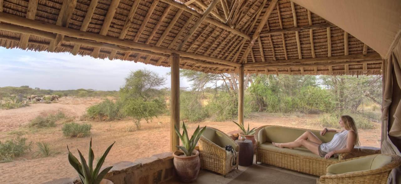 Ellies on your doorstep at Saruni Rhino Family Banda Verandah.jpg