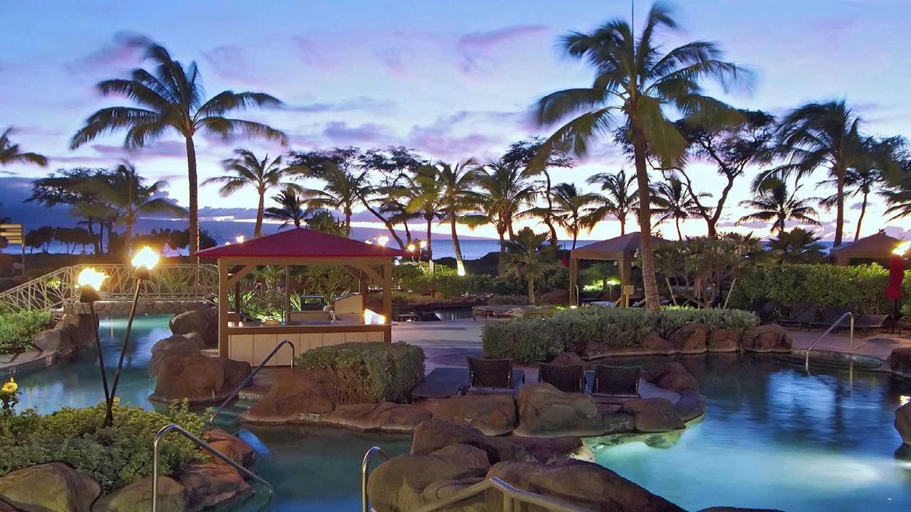 Aquatic Playground at dusk