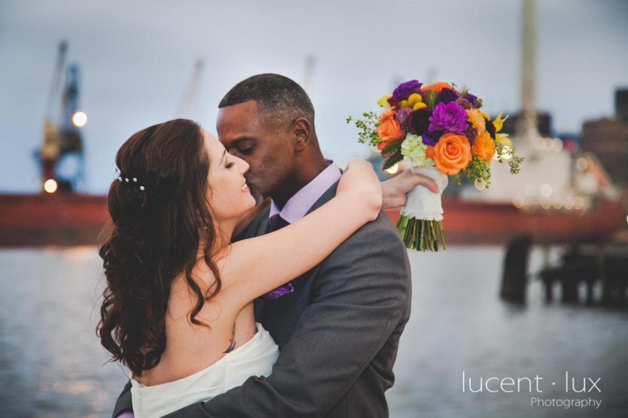 Admiral Fell Inn Bride and Groom Kiss Shot by Lucent Lux Photography.jpg