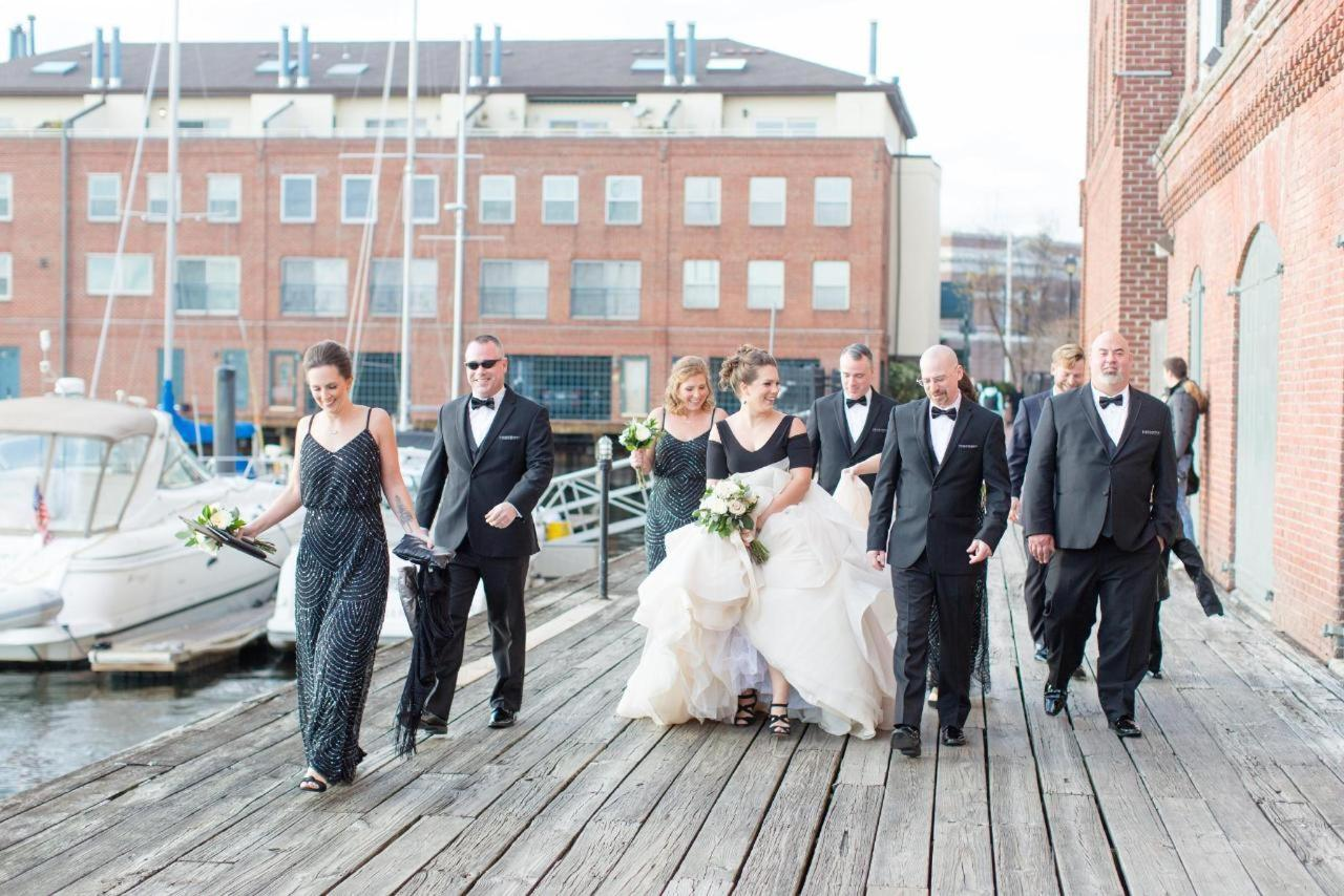 Admiral Fell Inn Bridal Party Shot by Amy and Jordan Photography.jpg