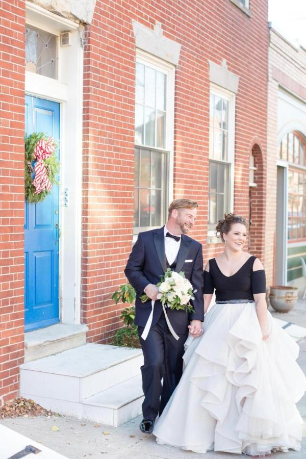 Admiral Fell Inn Bride and Groom in Fells Point Shot by Amy and Jordan Photography.jpg