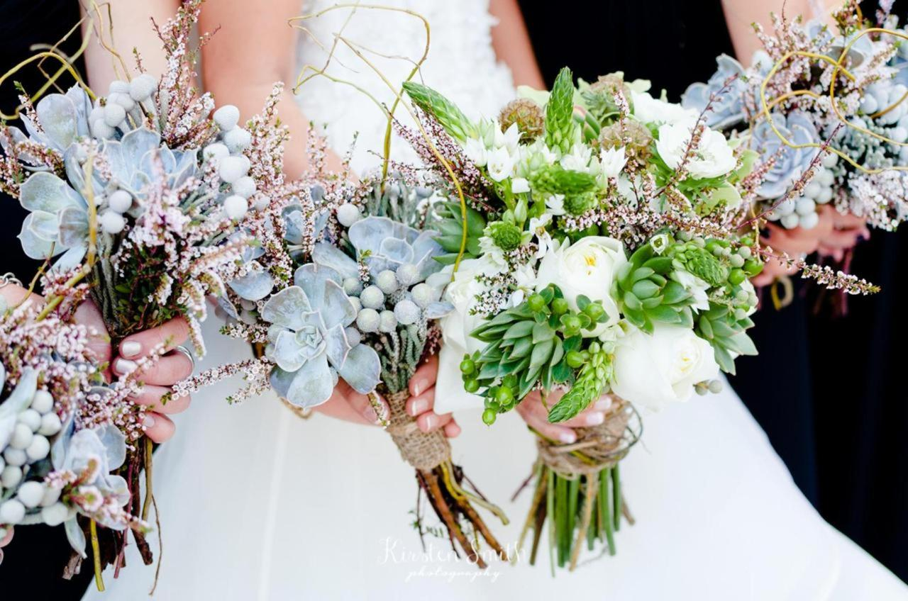 Admiral Fell Inn Bride and Bridesmaids Bouquet Detail Shot by Kirsten Smith Photography.jpg