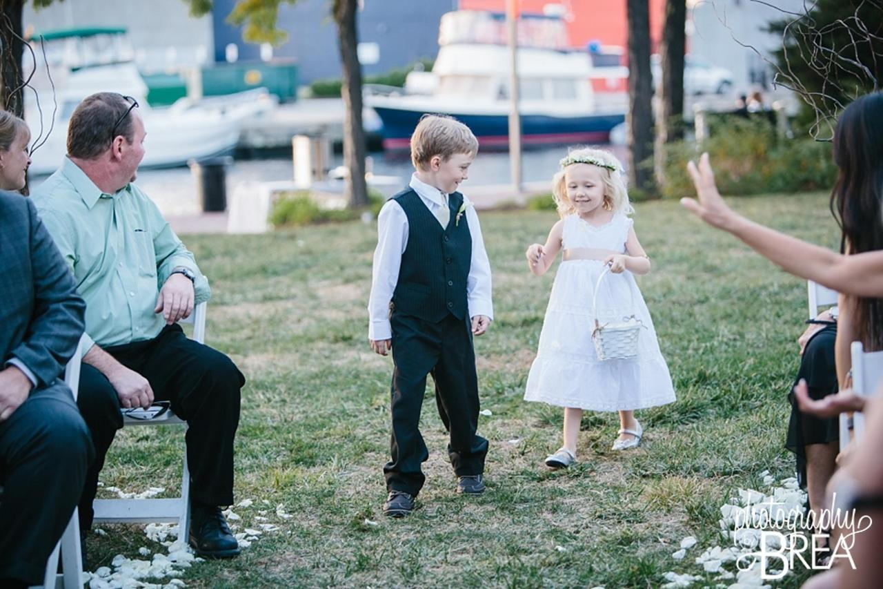 Pier 5 Hotel Ring Bearer and Flower Girl Black and White Captured by Photography by Brea.jpg