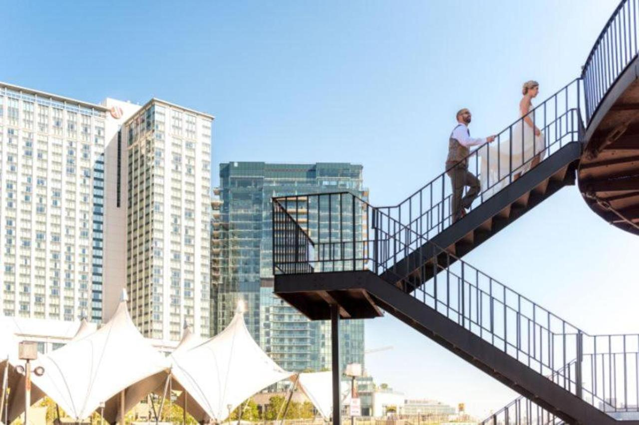 Pier 5 Hotel Bride and Groom Lighthouse Stairs Wedding Shot by Trans4mation Photography.jpg