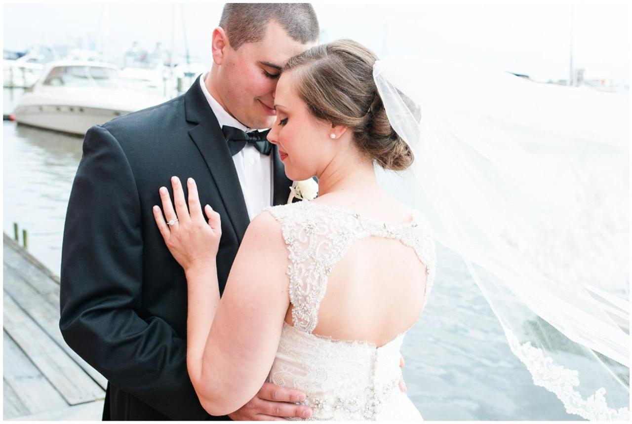 Henderson's Wharf Bride and Groom on Waterfront Photo Captured by Ashton Kelley Photography.jpg