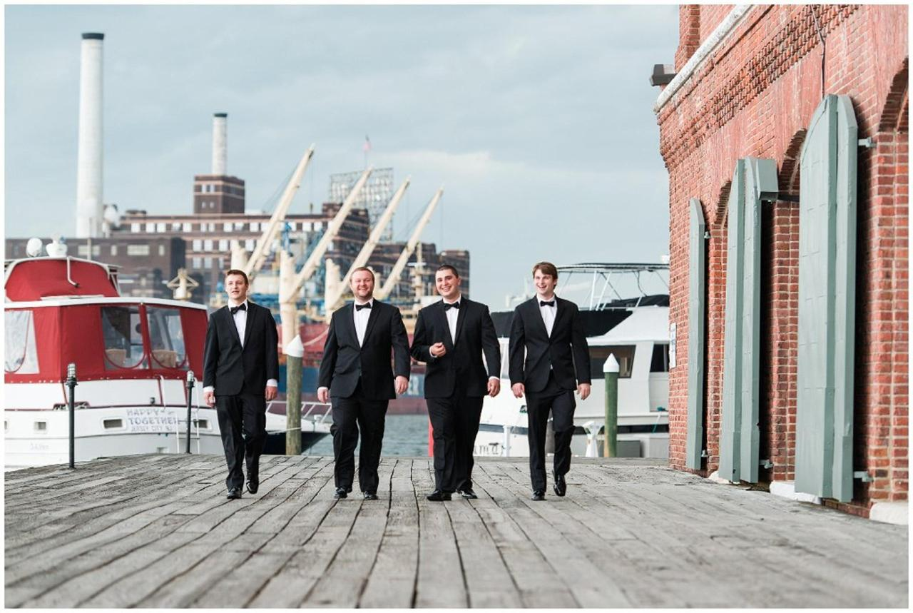 Henderson's Wharf Groomsmen on Waterfront Photo Captured by Ashton Kelley Photography.jpg