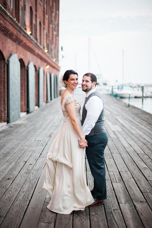 Henderson's Wharf Bride and Groom Waterfront Photo 2 Captured by Kirsten Marie Photography.jpg