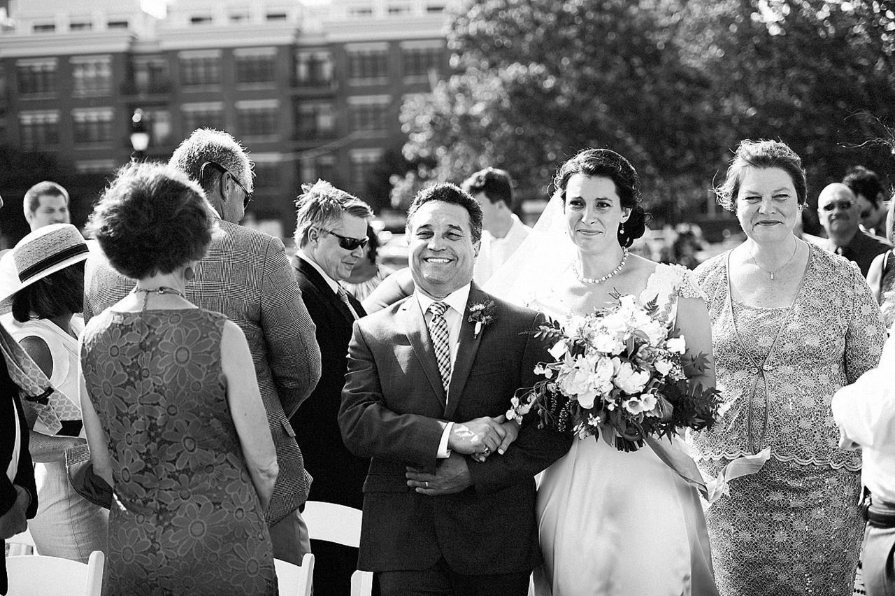 Henderson's Wharf Bride Walking Down the Aisle Photo Captured by Kirsten Marie Photography.jpg