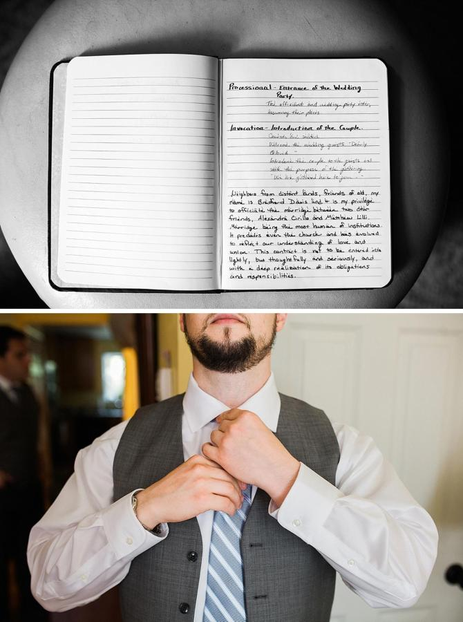 Henderson's Wharf Groom Book and Get Ready Photo Captured by Kirsten Marie Photography.jpg