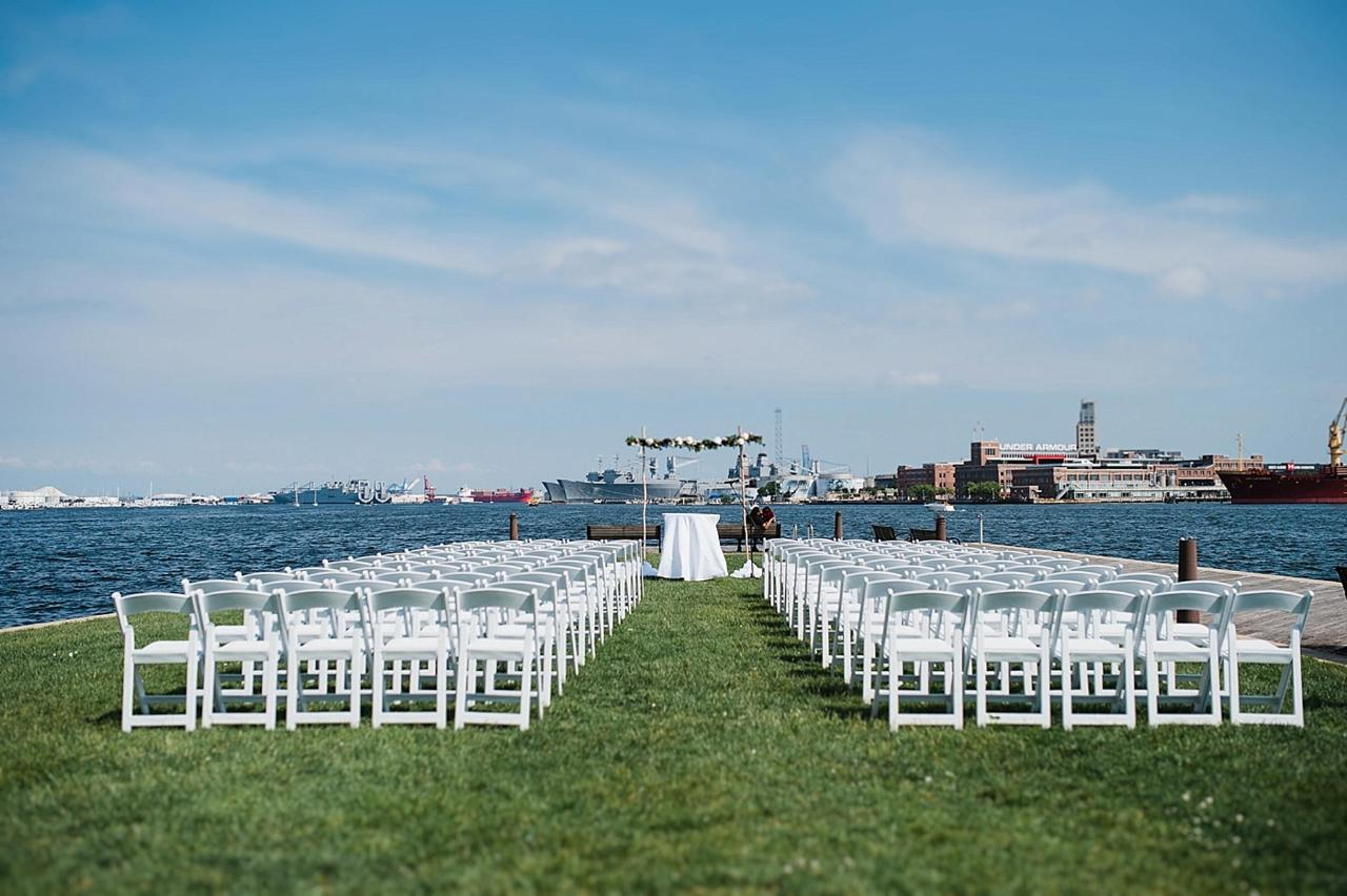 Henderson's Wharf Wedding Ceremony Setup Photo Captured by Kirsten Marie Photography.jpg