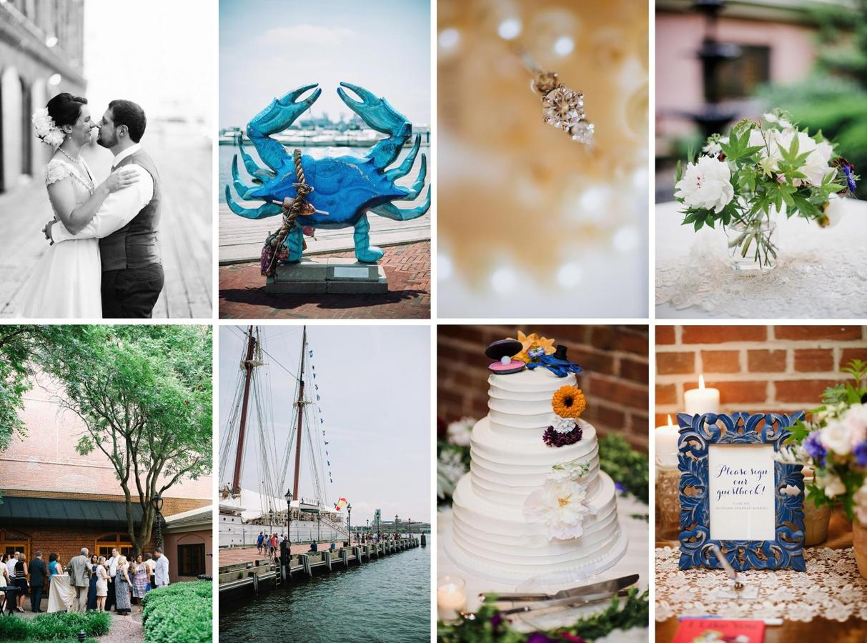 Henderson's Wharf Wedding Collage Captured by Kirsten Marie Photography.jpg