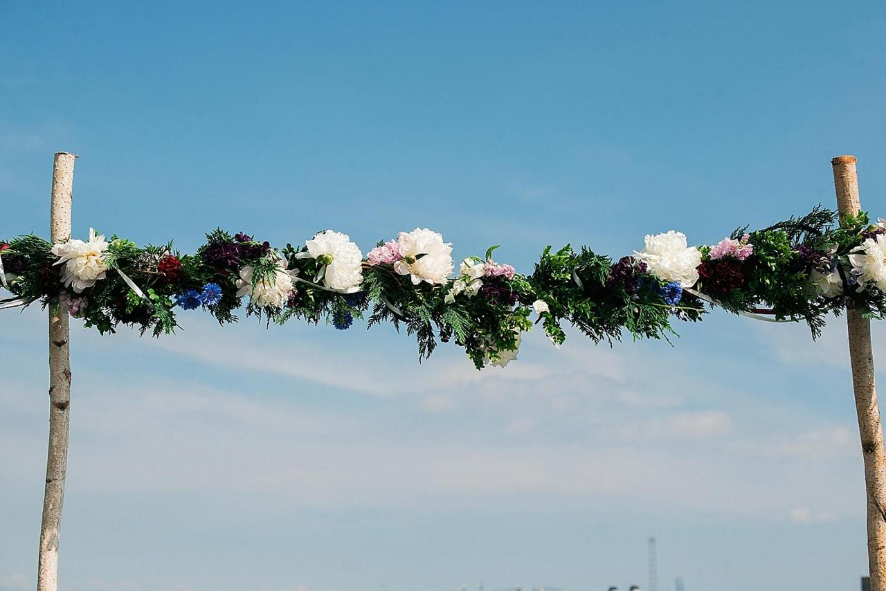 Henderson's Wharf Wedding Floral Arch Photo Captured by Kirsten Marie Photography.jpg