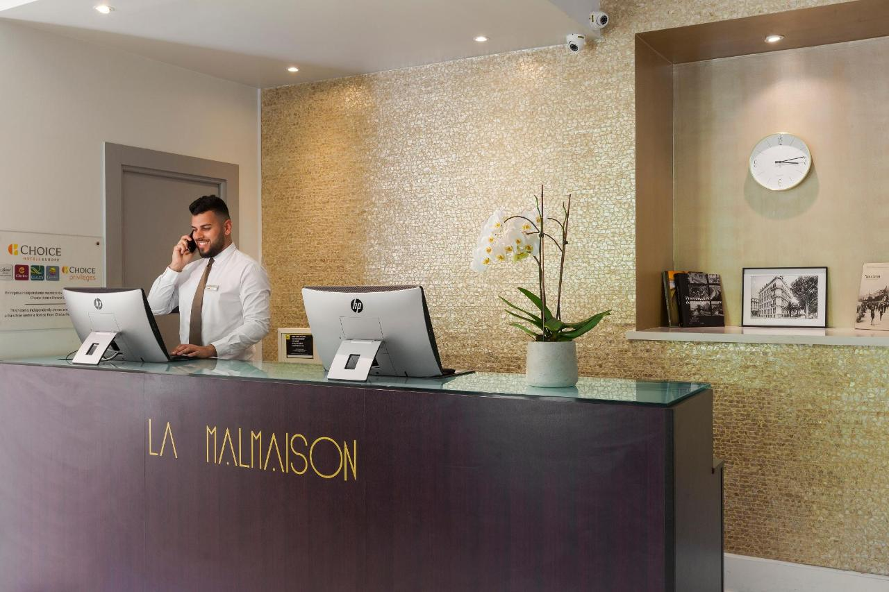 Réception Hotel La Malmaison Nice