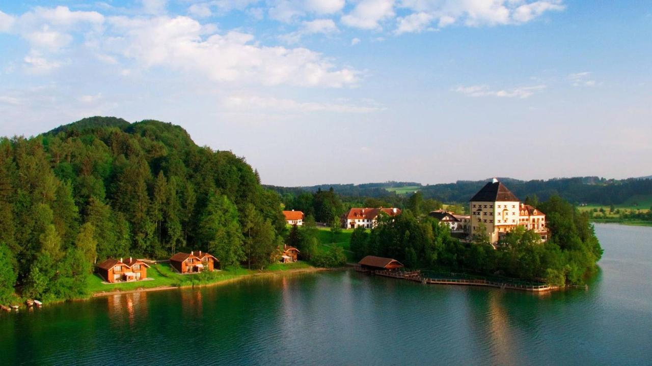 Fuschlsee with castle Fuschl
