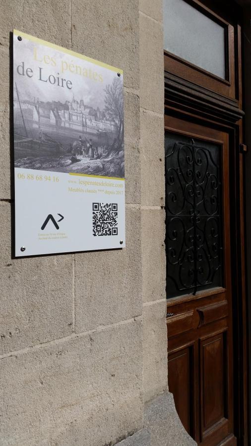 Plaque hotel des pénates de Loire au 34 rue d'Anjou à ANCENIS Loire Atlantique 44150
