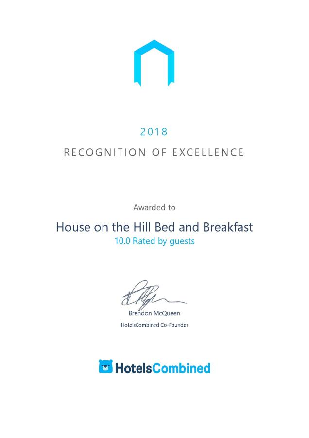 Σπίτι στο Hill Bed and Breakfast - Certificate.png