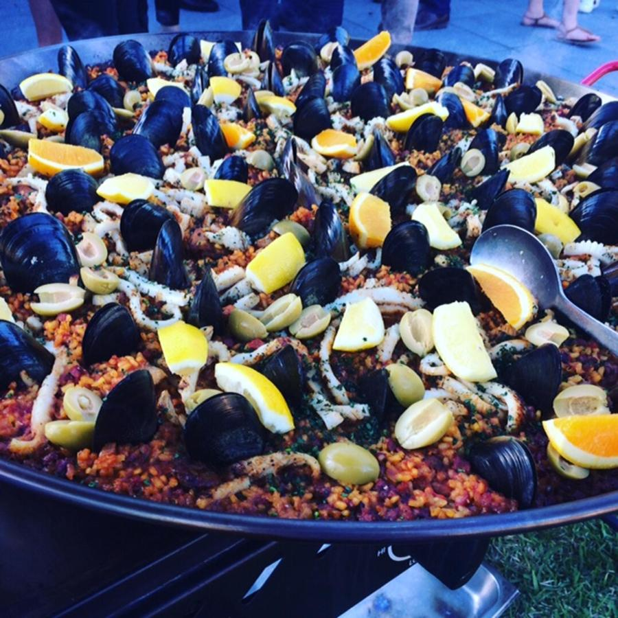 Paella Dish at Bella Restaurant.JPG