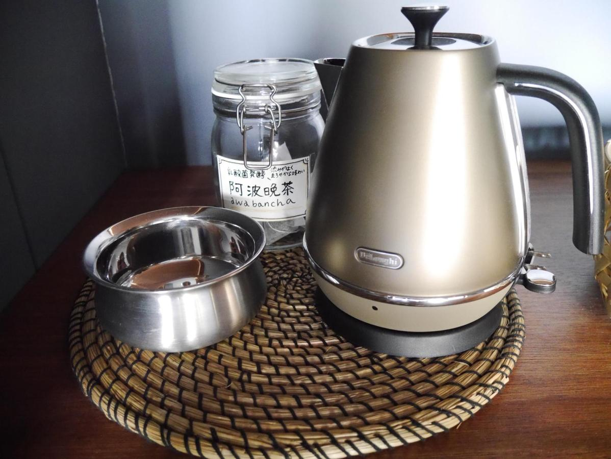kettle and tea set for terrace suite