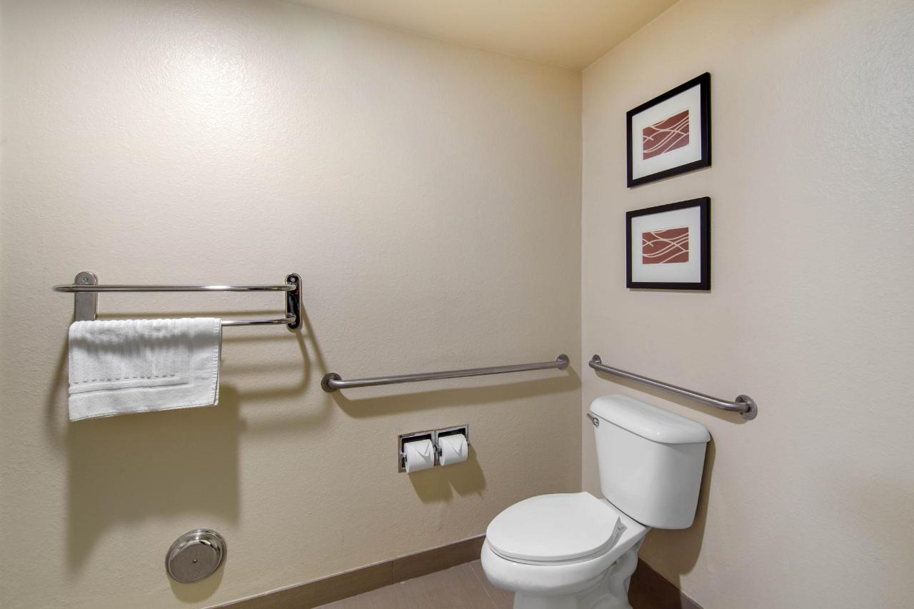Bathroom in Handicapped Room with 1 King Bed