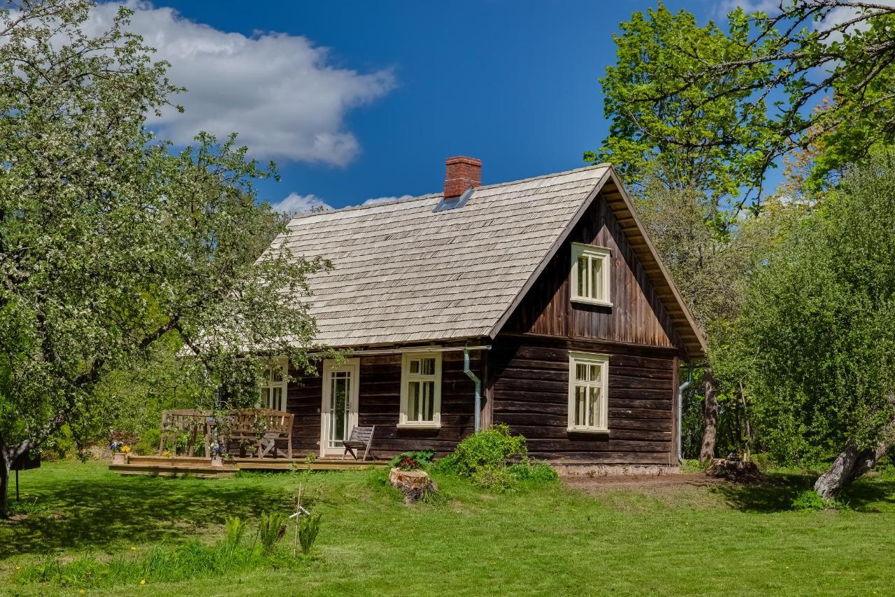 Blick auf die Hütte Annmarie