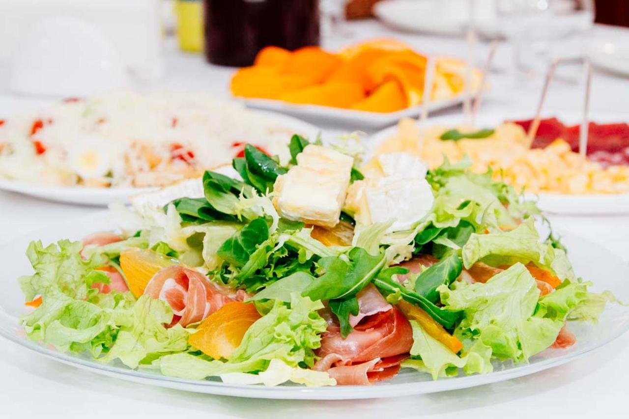 Warm Camembert Cheese Salad