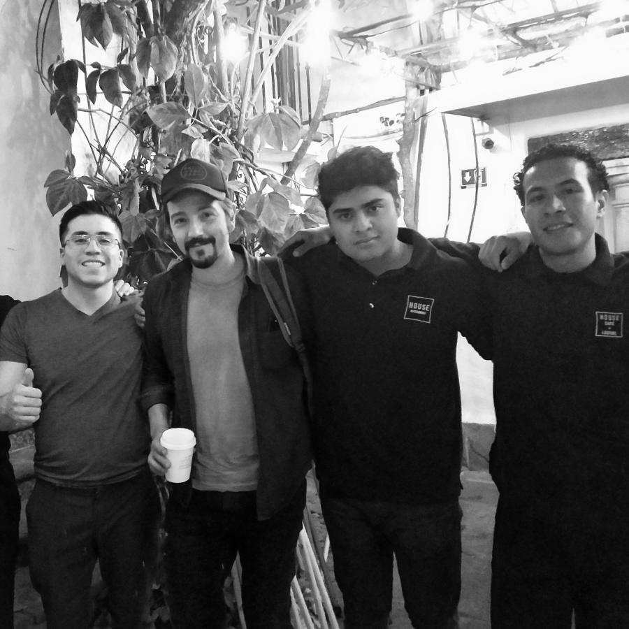International Film Star & Director Diego Luna joins us for dinner at House Restaurant, Cuernavaca