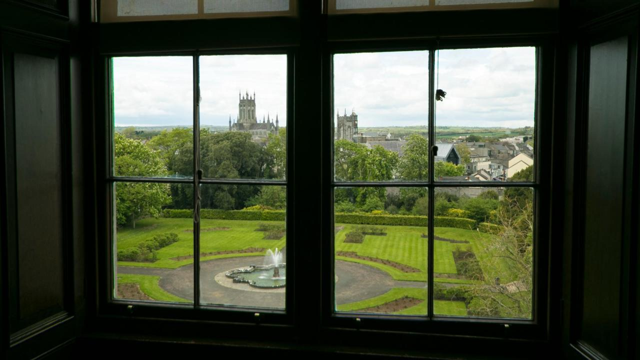 View from inside Kilkenny Castle