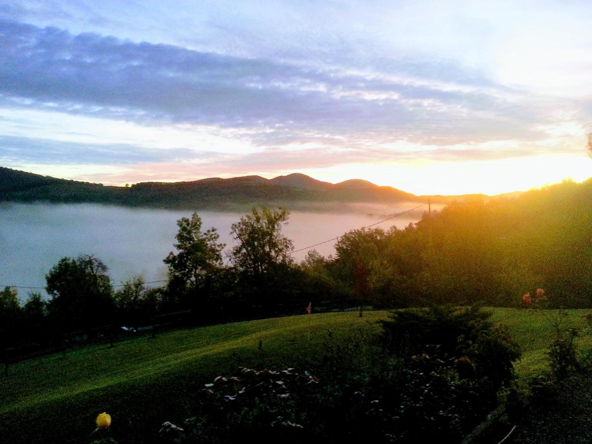 Brouillard du lever du soleil