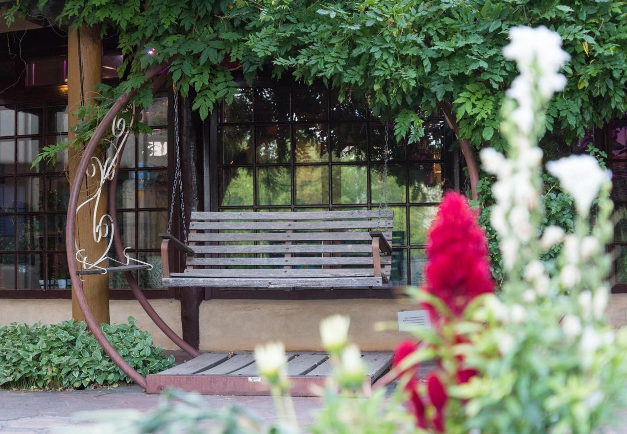 We have many places to sit and enjoy the peaceful grounds.