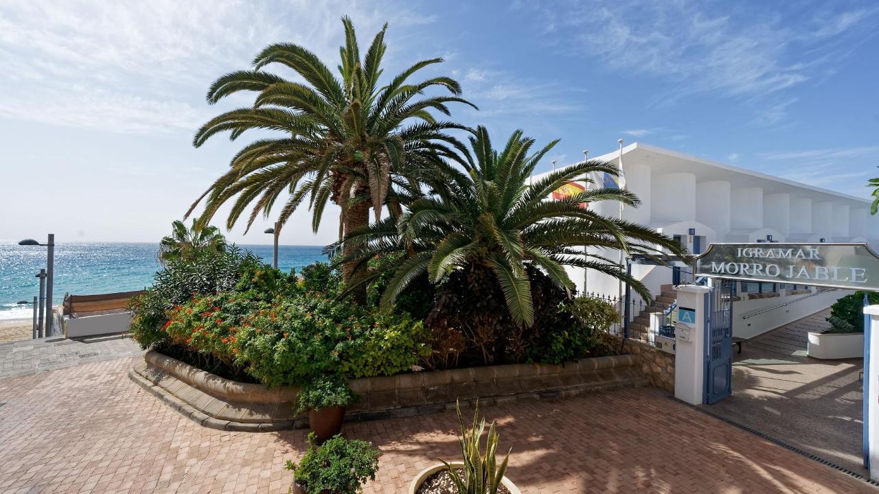 Igramar Morro Jable Eingang Garten Meer