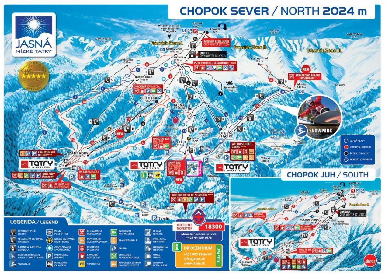 Jasná Chopok mapa lyžiarske stredisko.jpg
